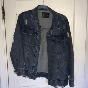 BLANK NYC Jean Jacket with Fur